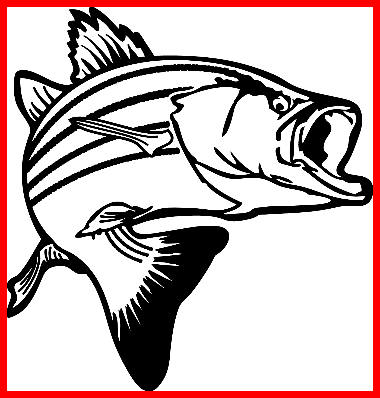 Caught fish clipart free clip art free stock Inspiring Fishing Logo Bass Fish Rod Club Stock Vector Pic Of Black ... clip art free stock