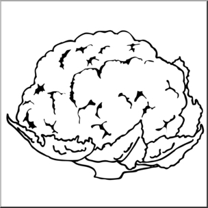Cauliflower clipart black and white banner royalty free library Best Of Cauliflower Clipart Black And White – Letter Master in ... banner royalty free library