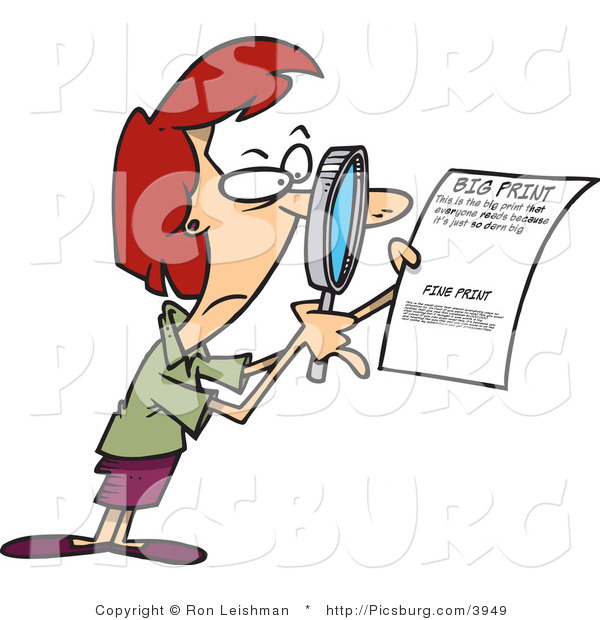 Cautious clipart jpg free download Clip Art of a Cautious Woman Using a Magnifying Glass to Read the ... jpg free download