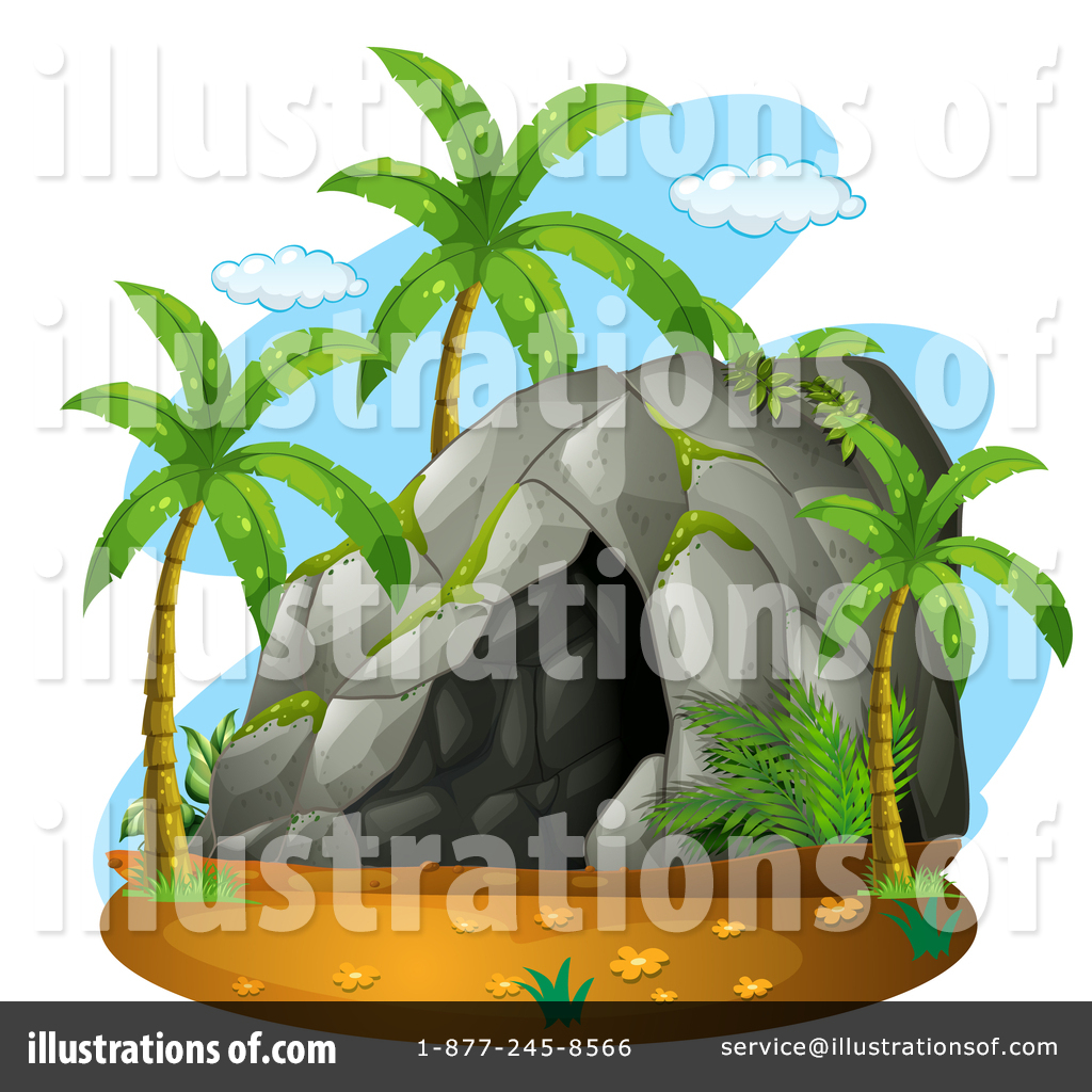 Cave under the tree clipart clip art freeuse library Cave Clipart #1463948 - Illustration by Graphics RF clip art freeuse library