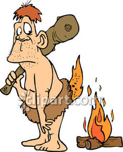 Caveman on Fire - Royalty Free Clipart Picture image freeuse download