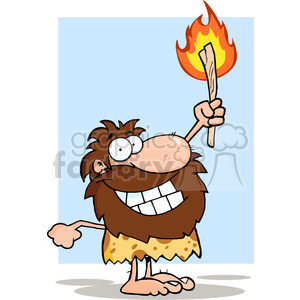 caveman-holding-fire clipart. Royalty-free clipart # 384296 graphic