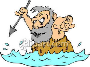 Caveman Hunting with Spear - Royalty Free Clipart Picture jpg library