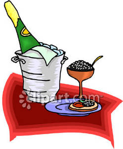 Caviar clipart png transparent stock Champagne On Ice and Caviar - Royalty Free Clipart Picture png transparent stock