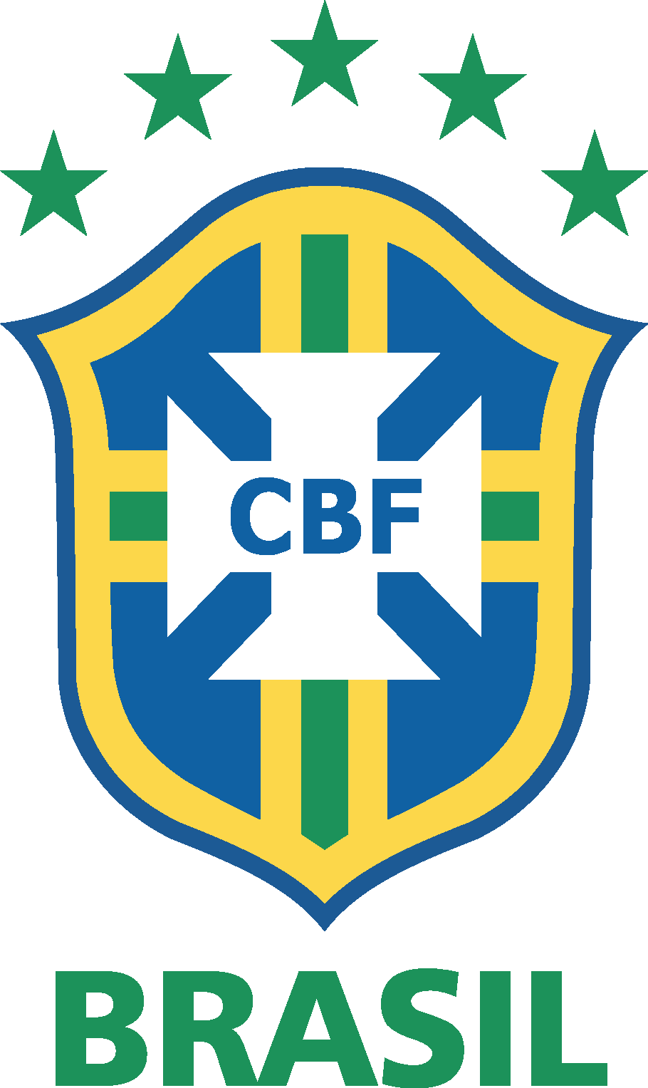Cbf logo clipart vector black and white download Brazilian Football Confederation & Brazil National Football Team ... vector black and white download