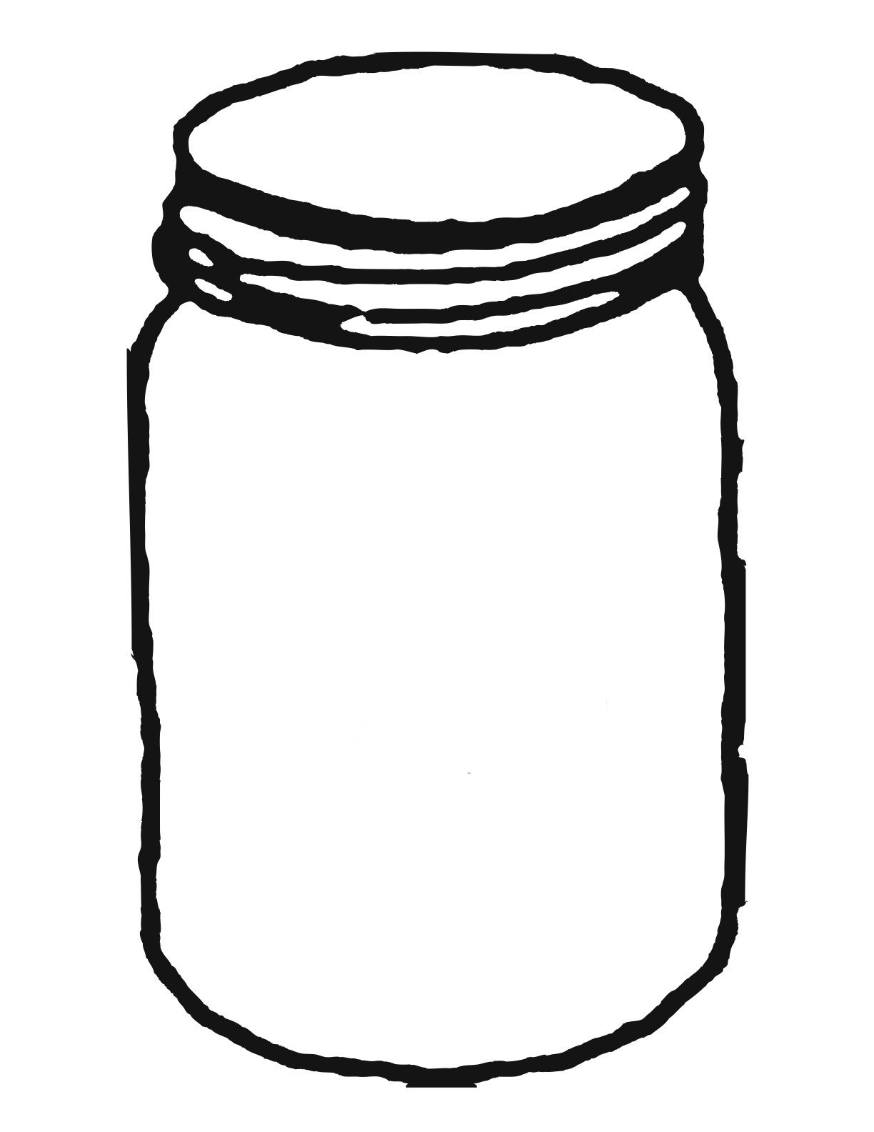 Ccokies in a jar clipart black and white graphic library Template for mason jar clipart clipartwiz | Free printable | Mason ... graphic library