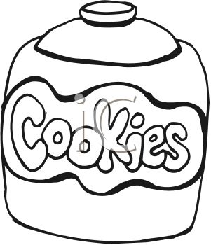 Ccokies in a jar clipart black and white vector free Clip Art Black And White Cookie Jar Clipart - Free Clipart vector free