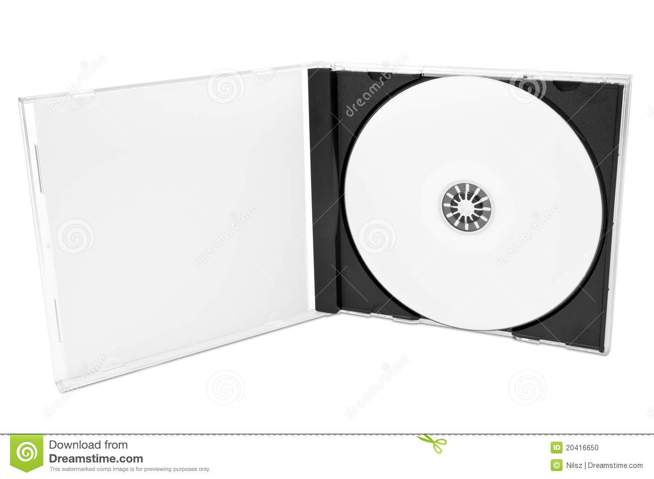 Cd cover clipart. With blank disc stock
