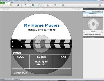 Cd disk artwork. Label maker create dvd