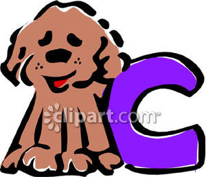 C-dog clipart jpg transparent stock Lower-Case Letter C With A Dog - Royalty Free Clipart Picture jpg transparent stock