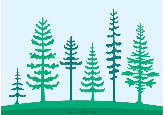 Cedar tree silhouette clipart image royalty free library Cedar Trees Silhouette Vector - Download Free Vector Art, Stock ... image royalty free library
