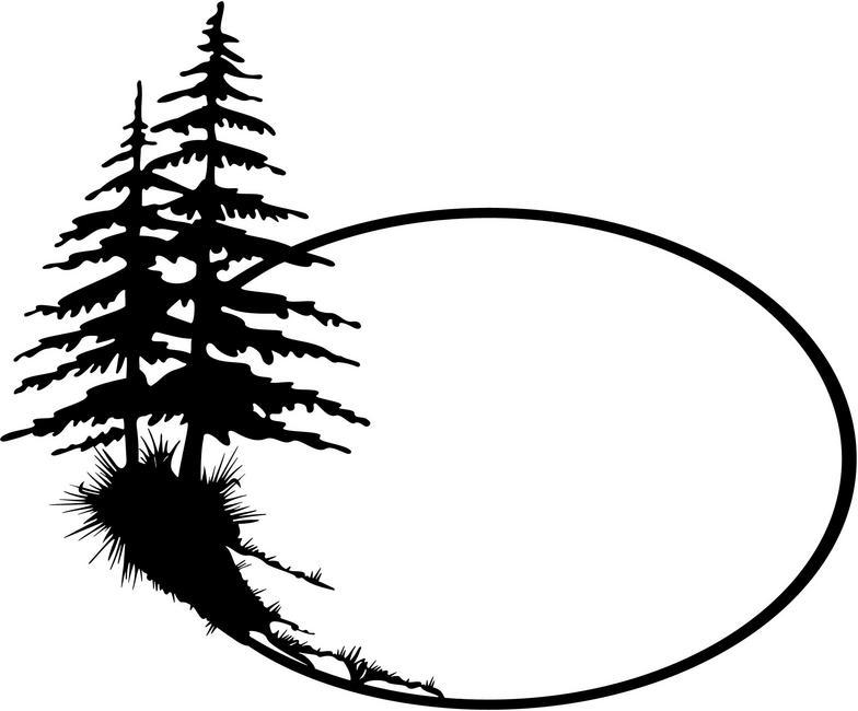 Cedar tree silhouette clipart jpg stock Free Cedar Tree Silhouette, Download Free Clip Art, Free Clip Art on ... jpg stock