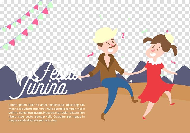 Celebrate senior citizens clipart clip black and white download Festa Junina Dance Illustration, Celebrate the dancing of men and ... clip black and white download