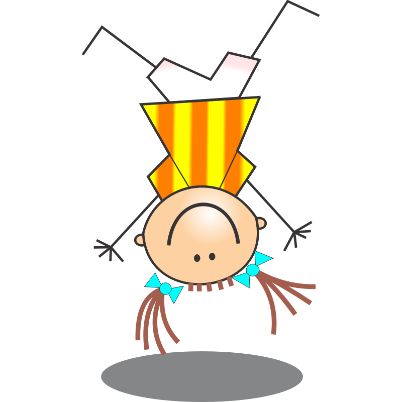Clipart - Girl Stick Figure Doing Handstand - Clip Art Library picture stock