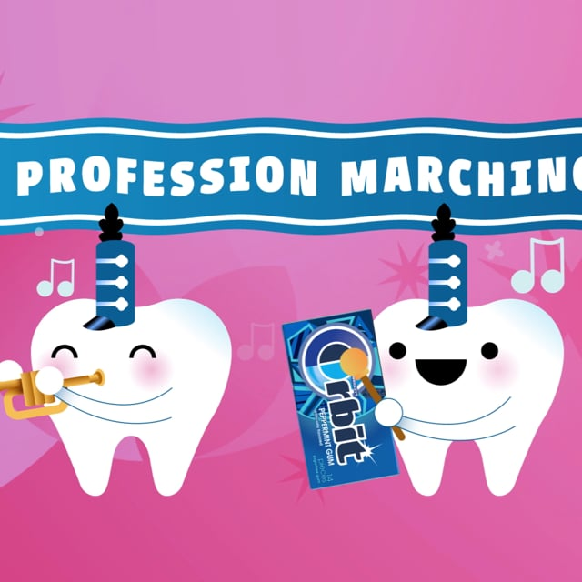 Celebrating National Dental Hygiene Month graphic royalty free stock