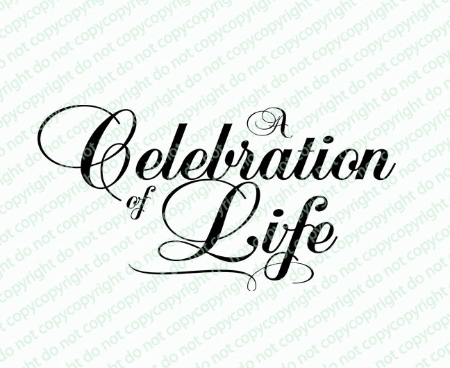 Celebration of life clipart graphic royalty free stock A Celebration of Life Funeral Program Title graphic royalty free stock
