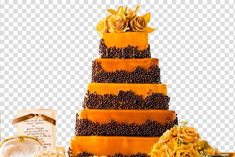 Celebration reception clipart image Wedding cake Torte Wedding reception, Yellow wedding cake ... image