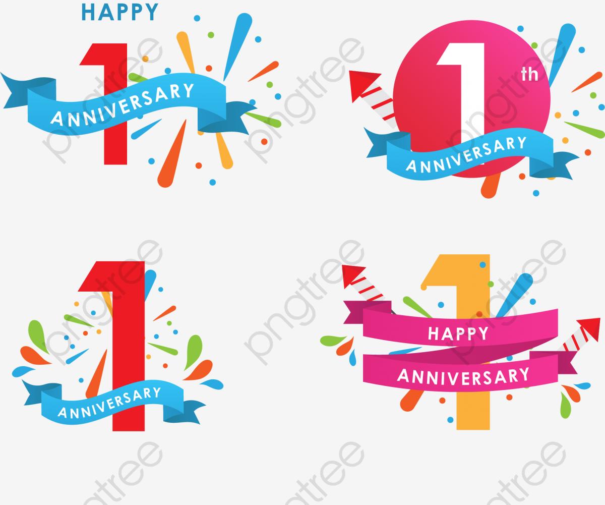 Free clipart anniversary celebration. Icon vector st celebrates