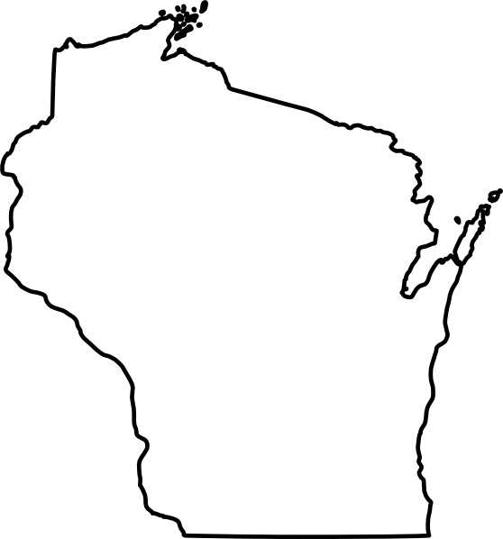 Wisconsin clip art Free vector in Open office drawing svg ( .svg ... black and white library