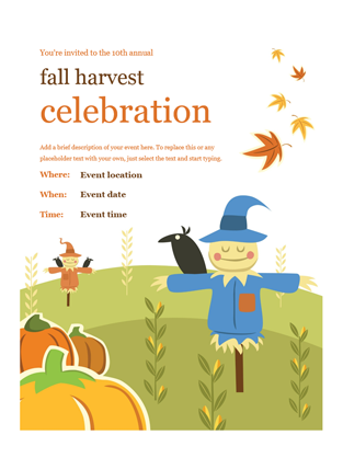 Celebrations flyers clipart graphic black and white download Fall flyer graphic black and white download