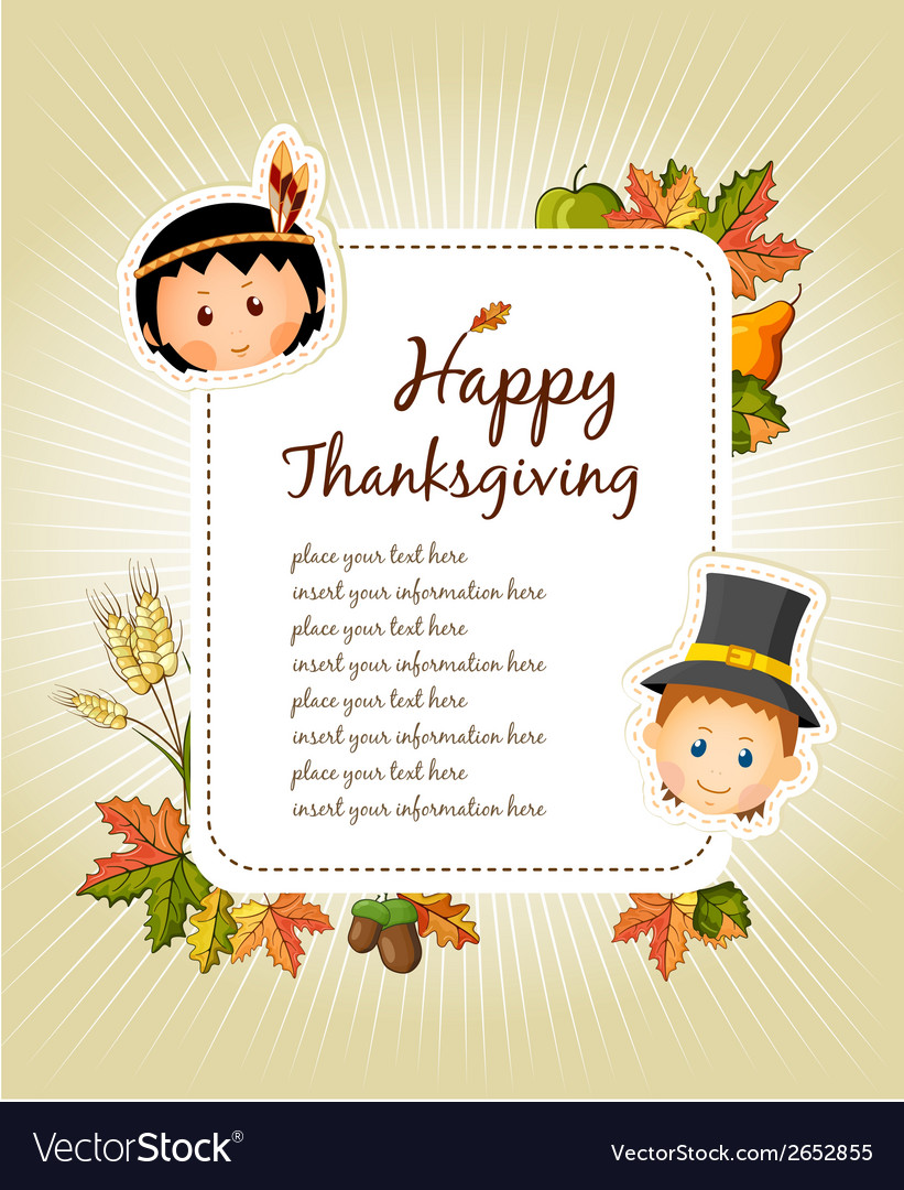 Celebrations flyers clipart clip black and white library Happy Thanksgiving Day celebration flyer clip black and white library