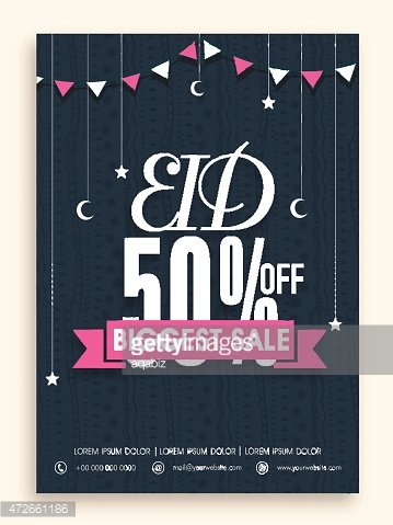Celebrations flyers clipart graphic freeuse download Biggest Sale Poster, Banner OR Flyer for Eid stock vectors - Clipart.me graphic freeuse download