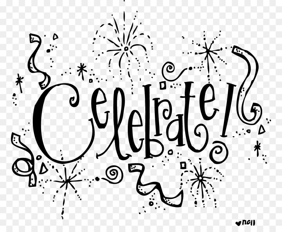 Celebratoin bw clipart clip art royalty free download Black And White Flower clipart - Party, Birthday, Text, transparent ... clip art royalty free download