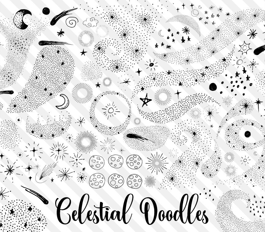 Celestial being clipart image freeuse Celestial Doodles Clipart image freeuse