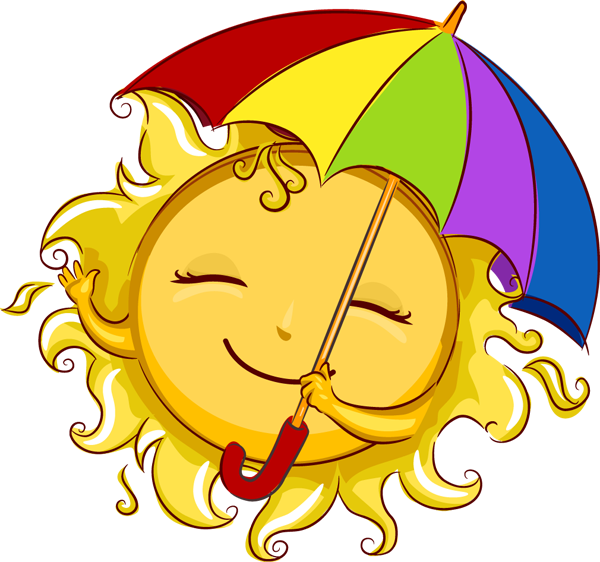 Sun reading clipart vector library library Web Design & Development | Pinterest | Clip art, June and Smileys vector library library