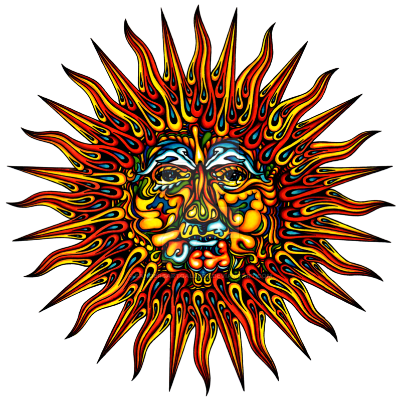 Trippy sun clipart picture freeuse Psychedelic Sun by sandersartgallery on DeviantArt picture freeuse