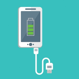 Cell phone charging clipart free clear background