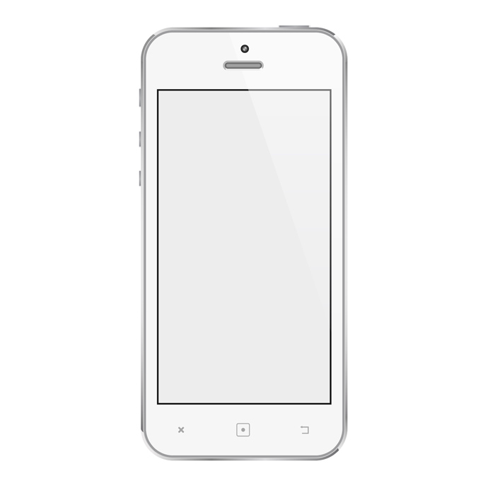 Cell phone vector clipart svg royalty free White Mobile Phone Free Vector | free vectors | UI Download svg royalty free
