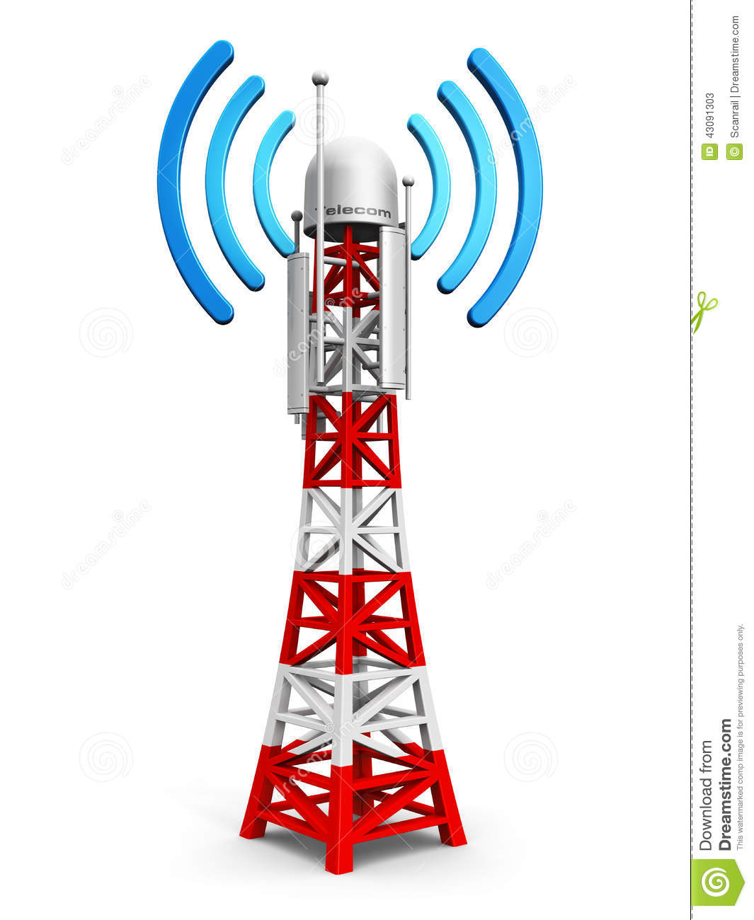 Cell site clipart vector black and white Telecom tower clipart - ClipartFest vector black and white