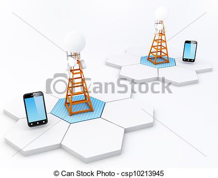 Cell site clipart svg Drawing of Cell site - A cell site is a term used to describe a ... svg