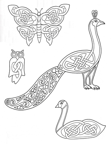 Celtic animal clipart clip art black and white download Celtic Animals Designs coloring page | Free Printable Coloring Pages clip art black and white download