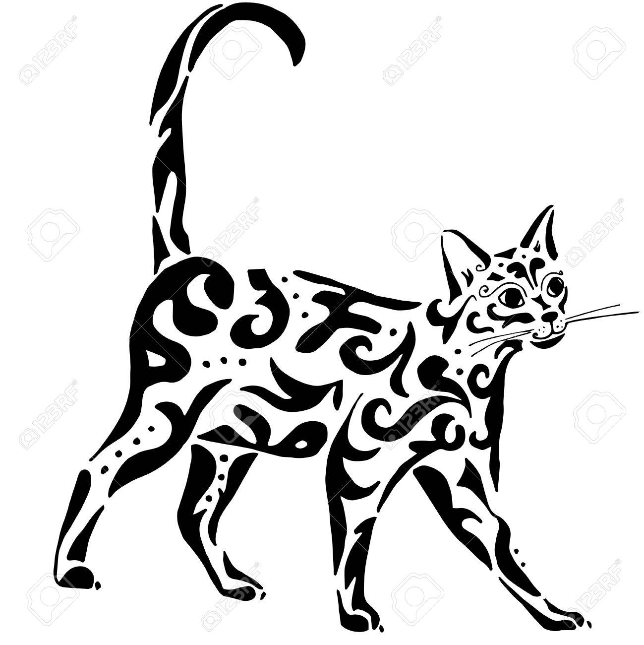 Celtic cats clipart jpg library Lineart cat - theivrgroup.org 2019 jpg library