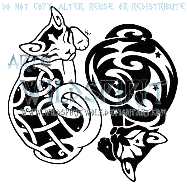 Library Of Celtic Cats Clip Freeuse Png