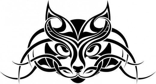 Celtic cats clipart royalty free Celtic cat tattoo idea | Someday... | Tribal animal tattoos, Tribal ... royalty free