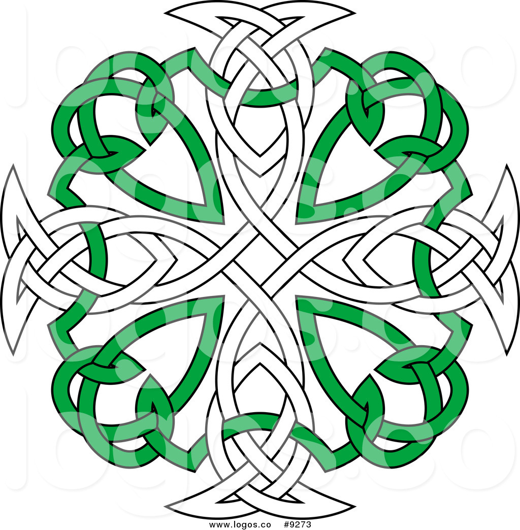 Celtic clipart vector transparent Royalty Free Clip Art Vector Green and White Celtic Knot Cross Logo ... transparent