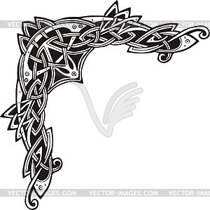 Celtic clipart vector freeuse stock Celtic decorative corner - vector clip art freeuse stock