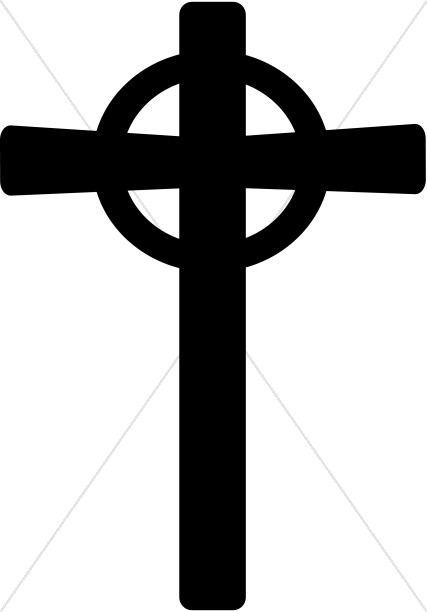 Celtic cross black clipart banner transparent library Celtic Cross | Cross Clipart banner transparent library
