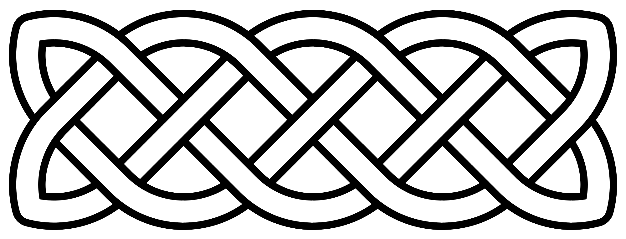 Celtic cross clipart black and white clip art download File:Celtic-knot-basic-linear.svg - Wikimedia Commons clip art download
