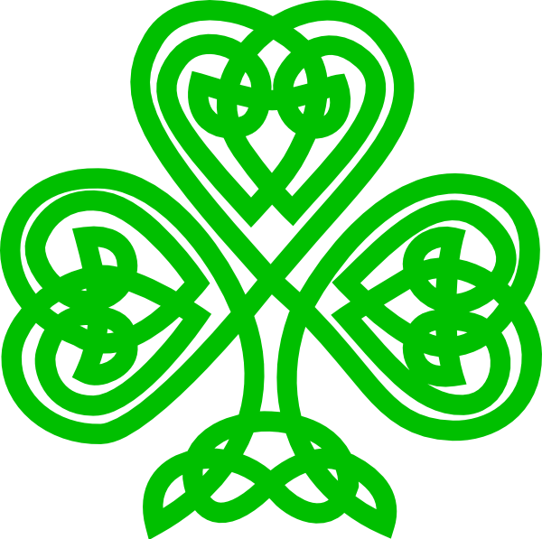 Simple celtic cross clipart picture black and white library Celtic Shamrock Clip Art at Clker.com - vector clip art online ... picture black and white library