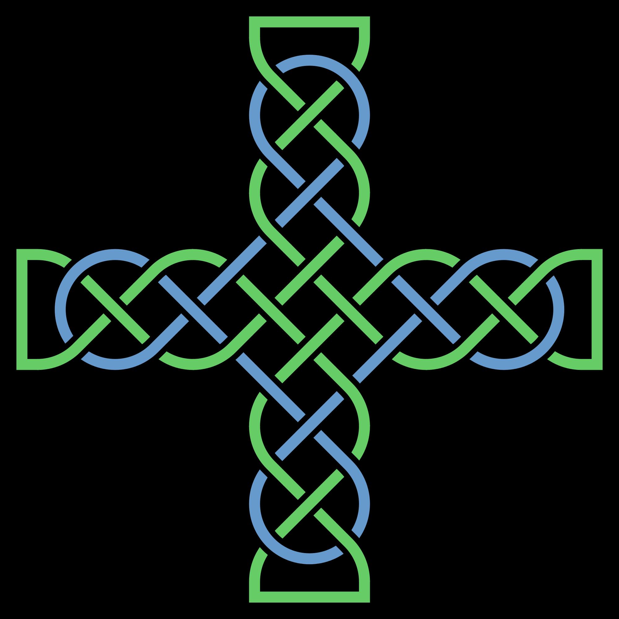 Irish cross clipart image black and white download File:Knotwork-cross-multicolored.svg - Wikimedia Commons image black and white download