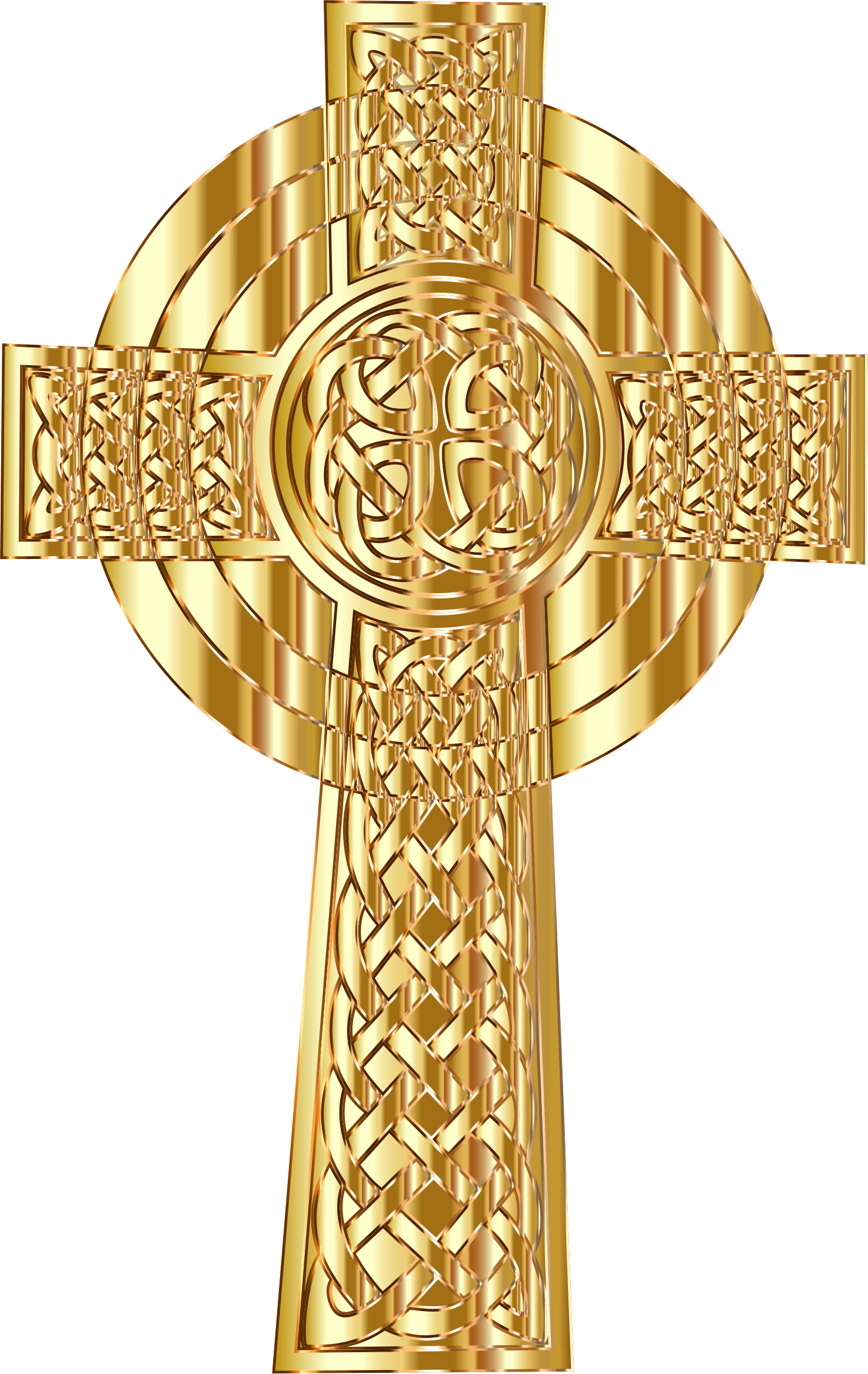 Celtic cross gold clipart graphic royalty free library Clipart - Golden Celtic Cross 2 graphic royalty free library