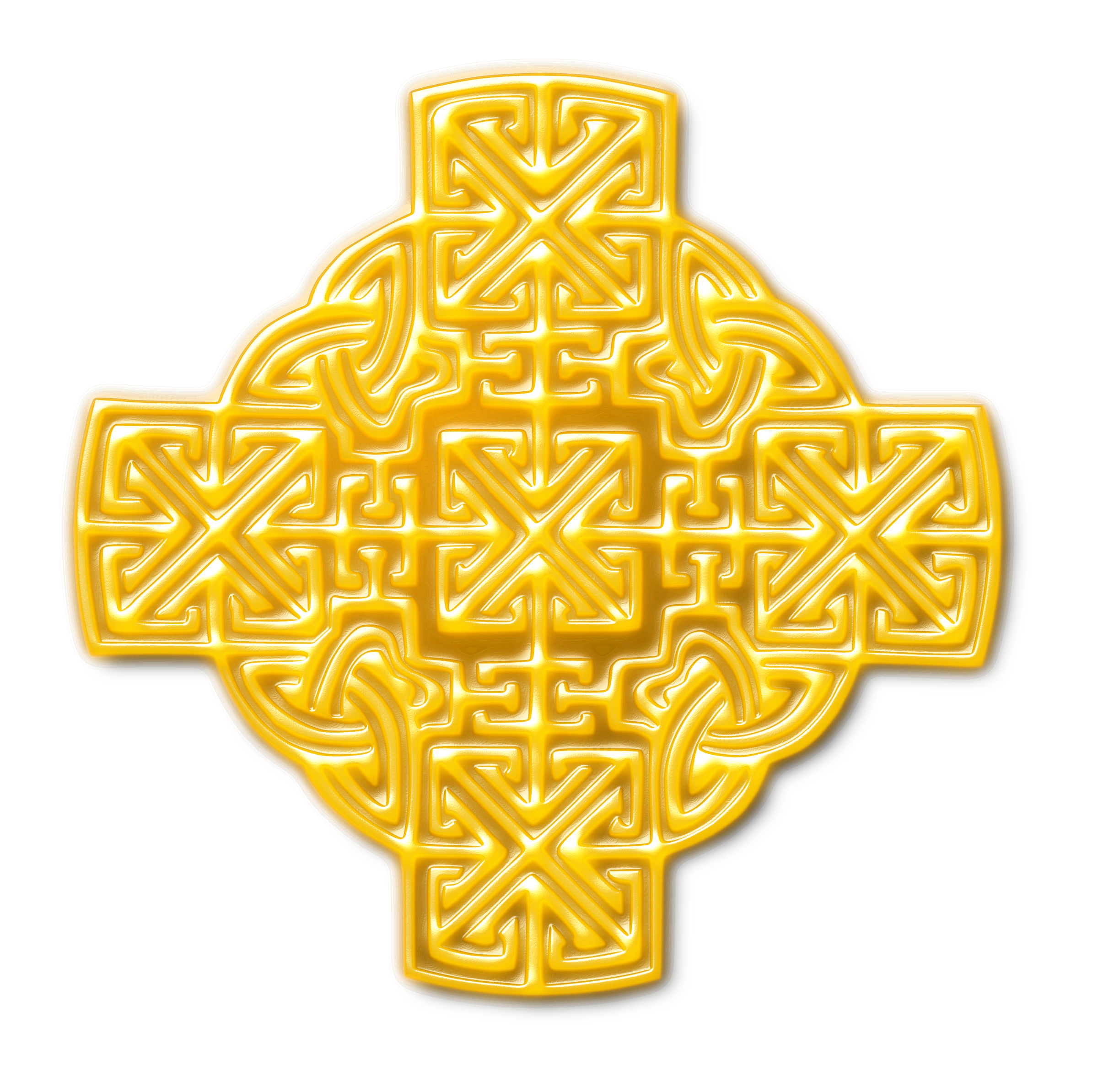 Celtic cross gold clipart clip free stock Clipart - Celtic-inspired design (gold) clip free stock