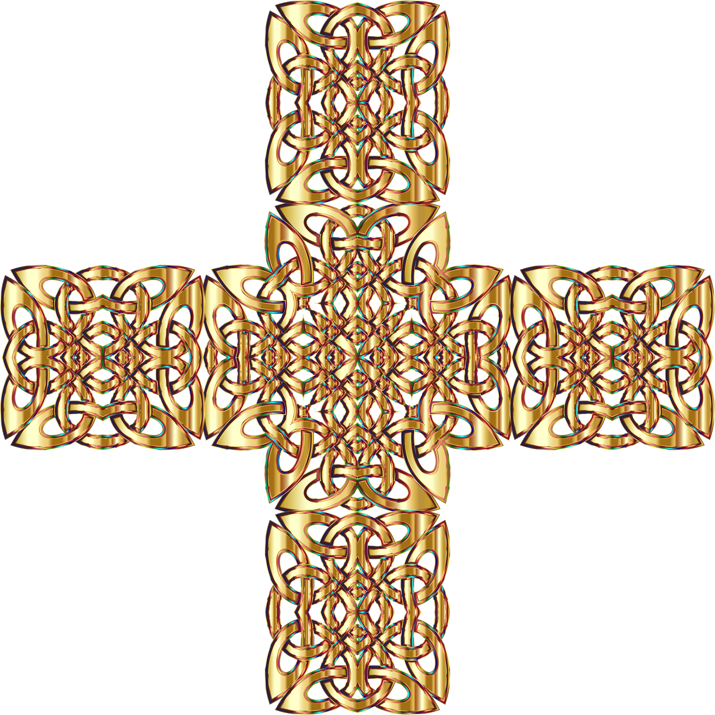 Celtic cross gold clipart clipart royalty free library Clipart - Golden Celtic Knot Cross 3 Variation 2 Without Background clipart royalty free library