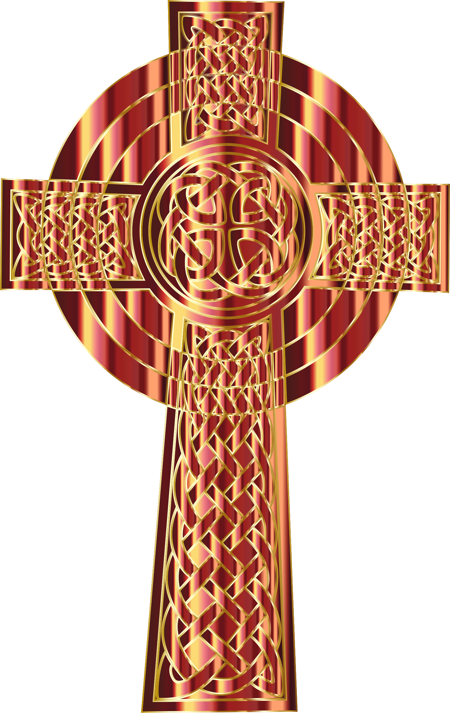 Celtic cross gold clipart graphic royalty free library Clipart - Golden Celtic Cross 3 graphic royalty free library