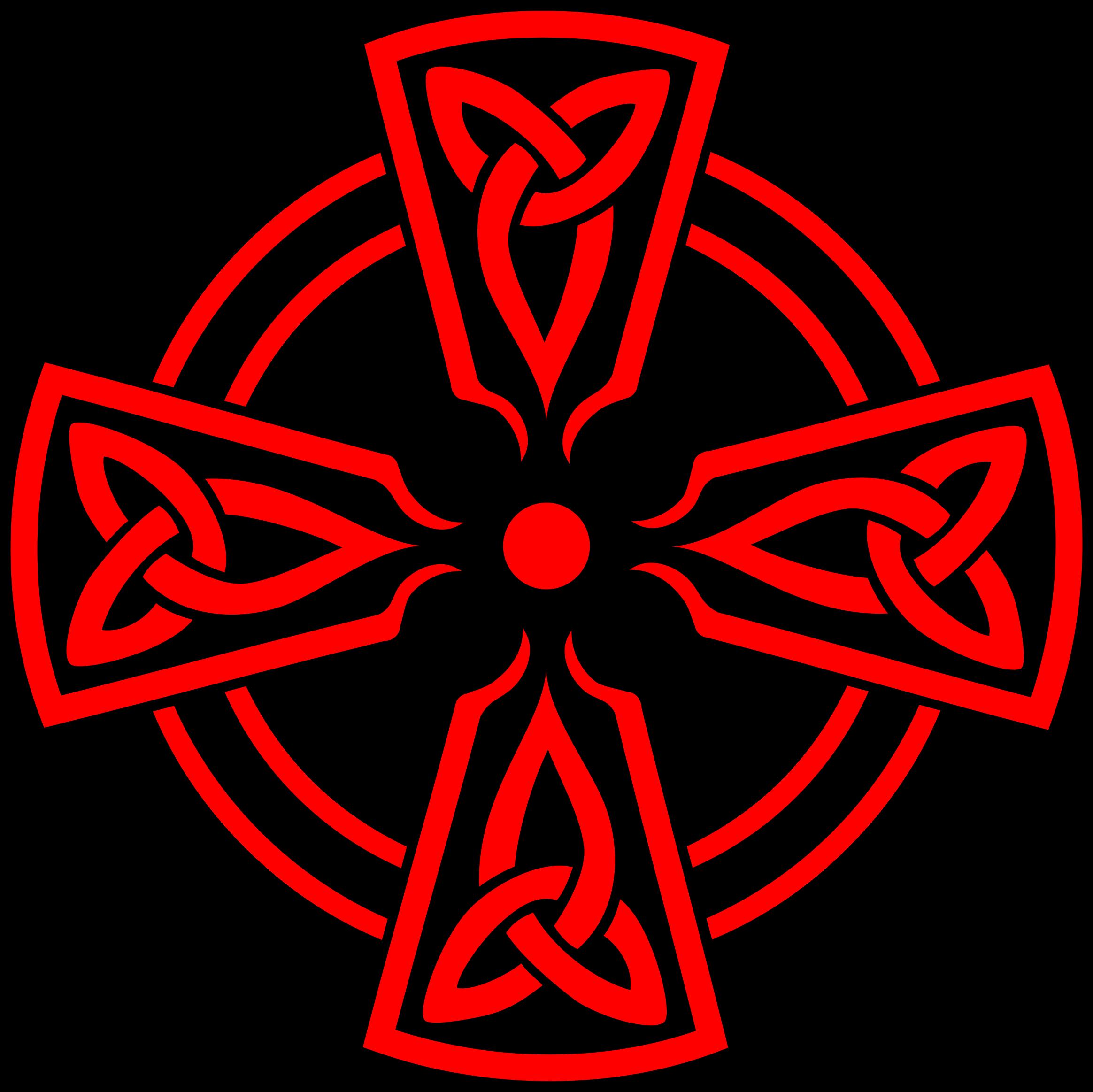 Irish cross clipart svg freeuse Clipart - Celtic Cross DecorativeTriquetras Red svg freeuse