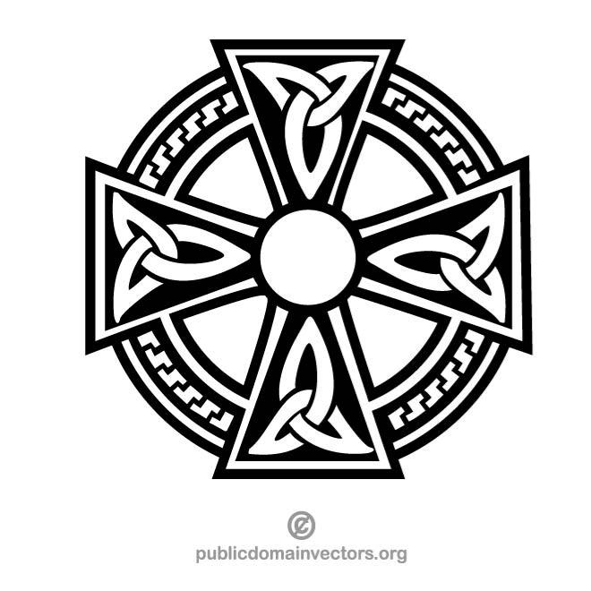 Celtic cross vector clipart transparent stock CELTIC CROSS VECTOR CLIP ART - Free vector image in AI and EPS format. transparent stock